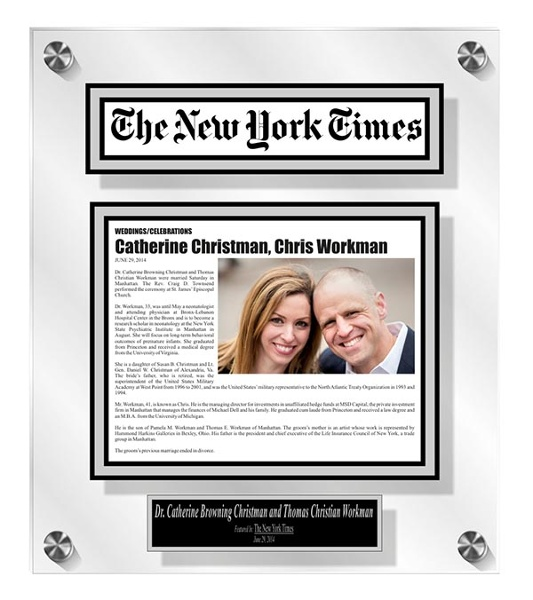 More than just preserving your invitation or special photo what about your wedding announcement in the paper?