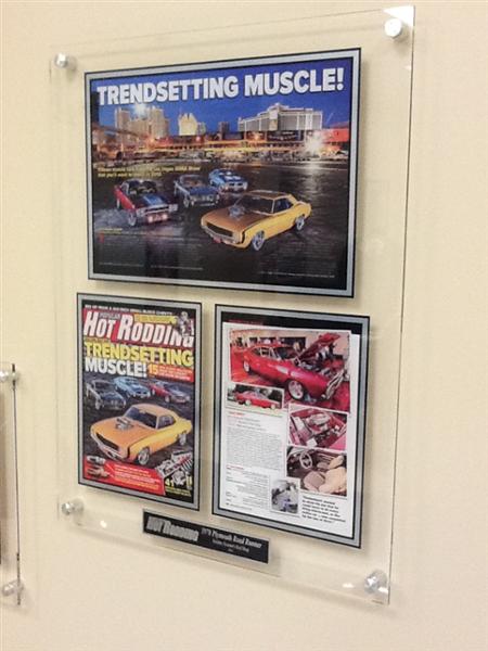 Auto magazine acrylic plaques