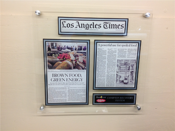New Cast Acrylic Plaques from In The News Inc.