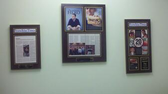 framing a newspaper, preserve articles, newspaper framed, framed article plaques