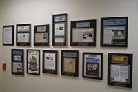 laminated plaques, laminated news articles, laminating newspaper articles, laminating magazine articles