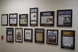 magazine frame, newspaper frame, framing newspaper article, framing magazine article