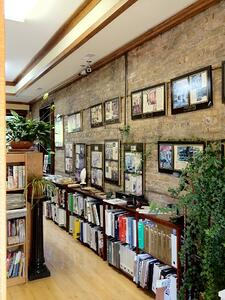 Here, this business lined its walls with tales of its accomplishments over the years, which is a great way to establish your authority with customers.