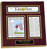 preserve articles, newspaper frame, magazine frame, laminated plaques