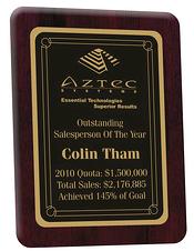 achievement plaque, recognition plaque