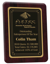 achievement plaque, recognition plaque