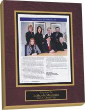 magazine plaque