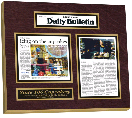 plaque newspaper articles, newspaper frame, article framing