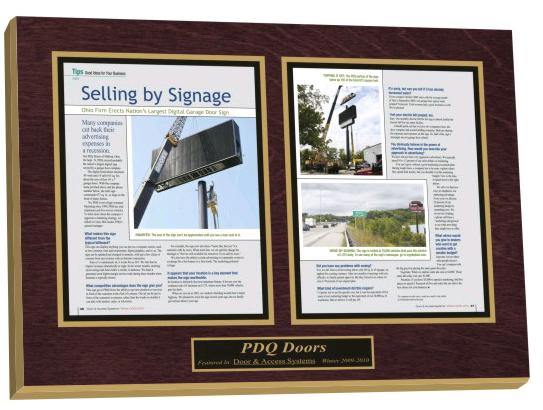 preserve articles, laminated plaques, magazine display frame, newspaper display frame