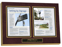 preserve articles, laminated plaques, magazine display frame, newspaper display frame