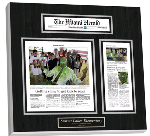 laminated plaques, printed articles display