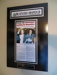 newspaper frames, newspaper frame, framed article plaques