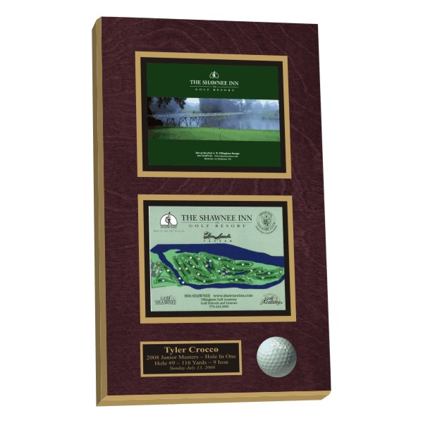 Hole-in-one plaques, Hole-In-One displays,