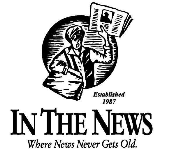 newspaper articles laminated,laminating newspaper articles,mounting newspapers