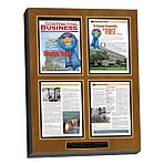 custom laminated magazine plaque
