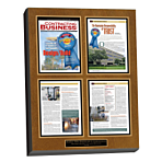 custom laminated magazine plaque