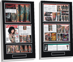 tattoo magazine plaque, magazine plaque, tattoo digital photos