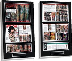 tattoo magazine plaque, magazine plaque, tattoo digital photos
