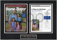 framing magazine articles, framed magazine article, magazine display frame