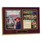 magazine article wall plaque