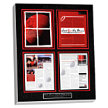 preserved magazine article custom plaque