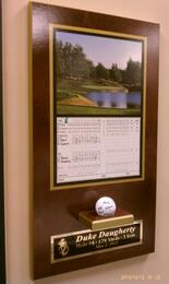 hole in one plaque, hole in one plaques, scoreacard and ball hole in one sign, hole in one award