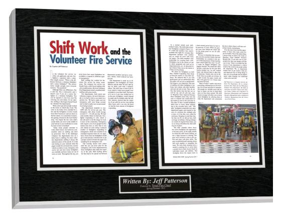 local community heroes plaques, fireman plaques, service plaques