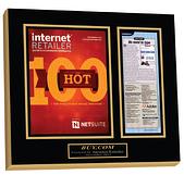 internet retailer magazine, hot 100 internet retailer list, magazine frame, framed article plaque
