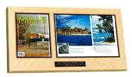 frame magazine, business plaque, professional plaque,