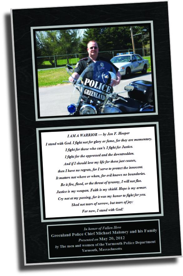 Dedication plaques, presentation plaque