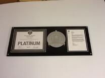 LEED certification plaque, LEED certification display