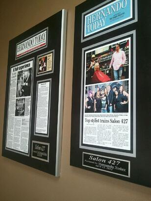 framed newspaper plaque, frame newspaper articles, custom wall plaque