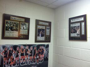 Newspaper display frames, newspaper frame, dislaying newspaper articles