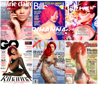 Rihanna magazine covers, magazine cover plaques,