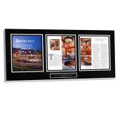 framed magazine plaque, magazine plaque, magazine article plaque