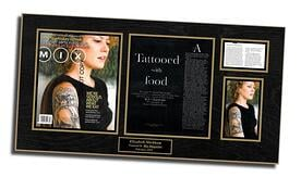 tattoo shop, tattoo artists, frame magazine articles