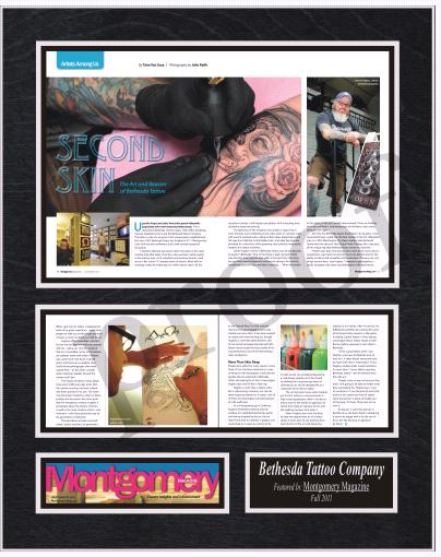 tattoo magazine frame, framed magazine articles, frame magazines
