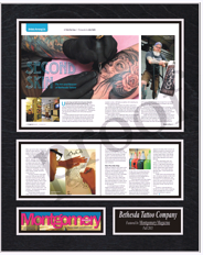 tattoo magazine frame, framed magazine articles, frame magazines