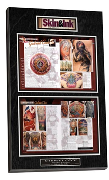 tattoo magazine plaque, magazine plaque, digital photo plaque