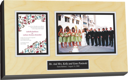 wedding invitation wall plaque
