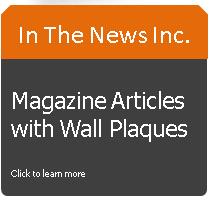 magazine plaques, preserve magazine articles, wall plaques