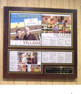 restuarant plaques, restuarant article plaques, online framing, online frame articles