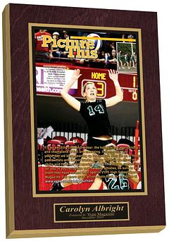 high school sports plaque, framed newspaper article, newspaper frame