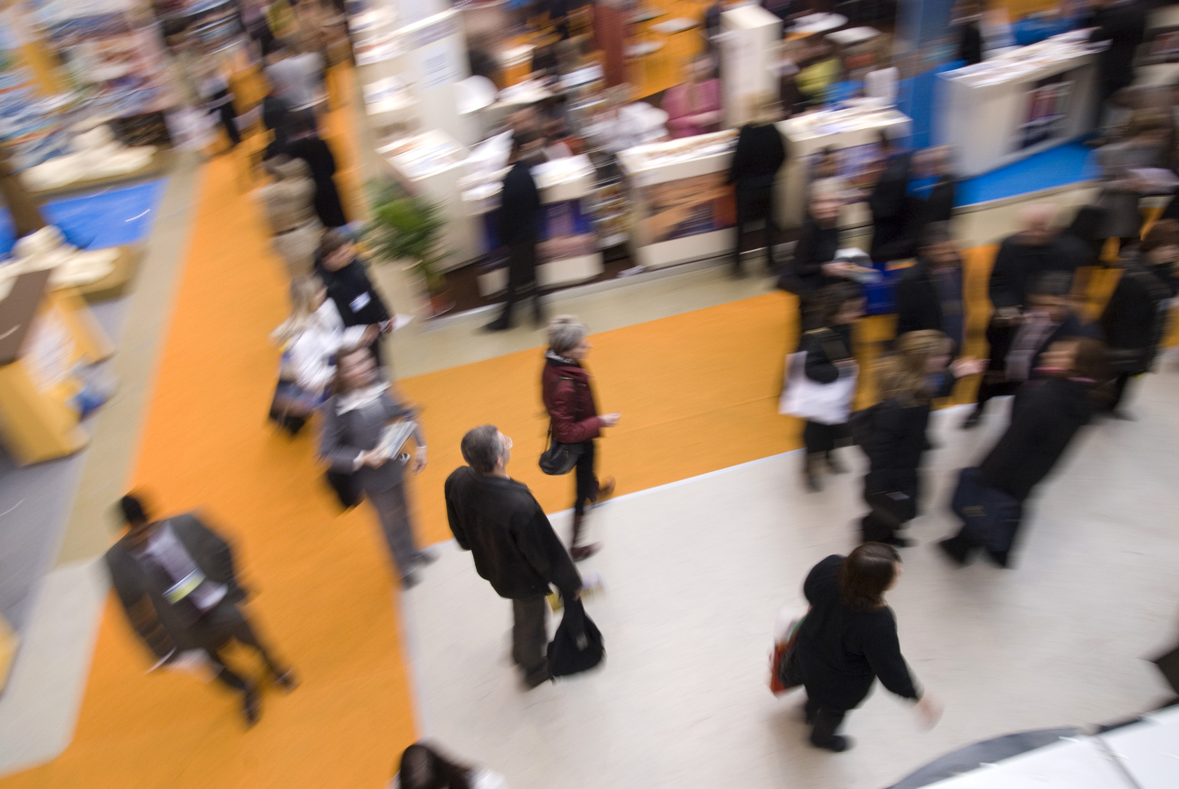 At an expo, what do you want visitors to focus on?