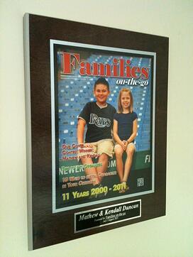 family plaque, create your own frame, newspaper plaque, magazine plaque