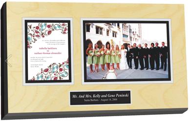 wedding invitation plaques, frame wedding invitations, preserve wedding invitations