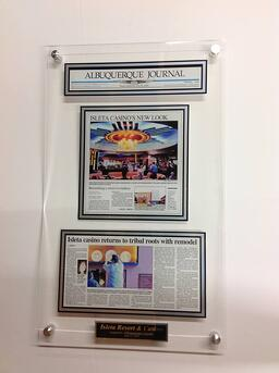 Newspaper Frame, Acrylic Wall Plaque, Article Framing