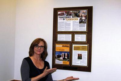 Julie Hildebrand plaque