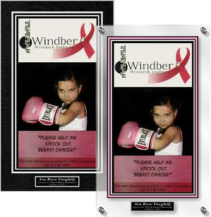 Plaques about Breast Cancer Awareness