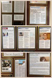 A wall of unblemished plaques for the skin care specialist
